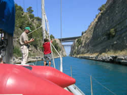Sailing in the Corinth Canal